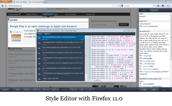 Firefox 11 0 Released with CSS Editor, 3D DOM Viewer and Add